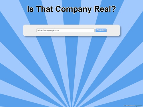 Is That Company Real?